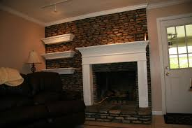 new floating fireplace mantel on interior with fireplace mantel