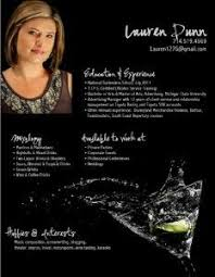 Resume Examples For Bartender by Bartender Resume Creative Resume Ideas Business Cards