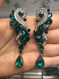 green earrings best 25 pageant earrings ideas on prom earrings gold