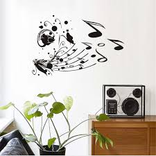 online buy wholesale music notes wall decal from china music notes flower butterflies musical notes wall decal wall stickers diy home decoration wall art wall decal decoration
