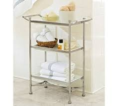 Polished Nickel Bathroom Accessories by Grant Floor Storage Polished Nickel Finish Pottery Barn 199