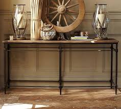 Small Entry Table Table Wood And Leather Console Table Wooden Console