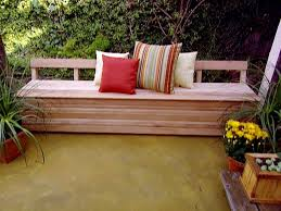 patio storage bench video hgtv within outdoor pool plan treatment