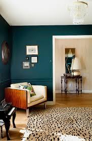 peacock blue cognac chair contrast study room inspiration unique