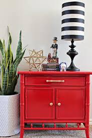 bamboo nightstand makeover using glossy spray paint hometalk