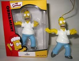 the simpsons homer ornament