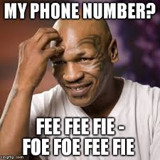 Phone Meme - mike tyson s phone number mike tyson meme