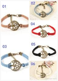 gift tree free shipping new wish tree bracelet antique silver wish tree pendant leather
