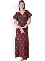cotton nighties for women buy cotton nightgowns u0026 dresses myntra