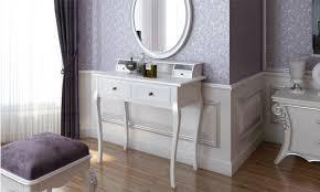 coiffeuse blanche si e avec miroir inclus coiffeuse miroir et tabouret groupon shopping