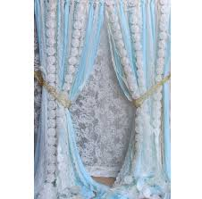 blue white lace white flowers backdrop props photobooth baby