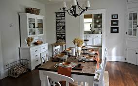 white dining room with vintage and industrial look vintage home