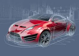 sports car sketch wallpaper wall mural wallsauce usa save your design for later