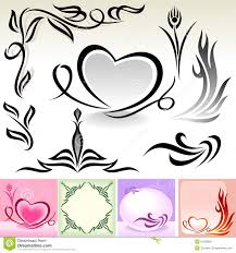 calligraphic designs and decoration stock vector image