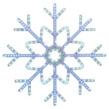 shop ge 3 ft hanging snowflake with chasing white led lights at