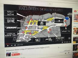 map of universal halloween horror nights halloween horror nights map hollywood