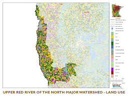 Chippewa National Forest Map Upper Red River Of The North Watershed Minnesota Nutrient Data