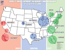 Sc Metro Map by U S Soccer Development Academy