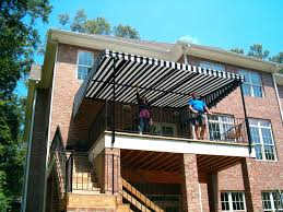 stationary awnings for decks and canvas beach fl sun shelter