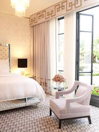 bedroom ideas large window curtain ideas with beige drapery and