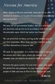 catholic prayer thanksgiving pray our novena for america