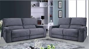 Grey Recliner Sofa Sofa Sofa Furniture Leather Reclining Sofa Set Microfiber