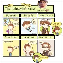 Meme Hairstyles - the many hairstyles of ian hecox meme brb it s teatime i m
