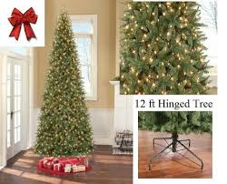 design 12 foot slim tree time pre lit