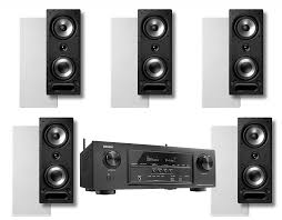 home theater avr denon avr s720w 7 2 receiver polk audio vs265 in wall speakers