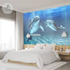 Peel And Stick Wallpaper Reviews by Dolphins Wall Mural Dolphins Self Adhesive Peel U0026 Stick Photo