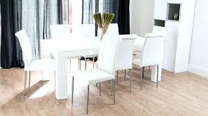 Gloss White Dining Table And Chairs White Dining Table And Chairs Best Refinished Dining Tables Ideas