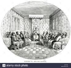 Tudor King by Edward Vi Council Court Royalty King Of England Ireland Monarch