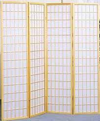 Decorative Room Divider by Amazon Com Legacy Decor 4 Panel Natural Room Divider Shoji Screen
