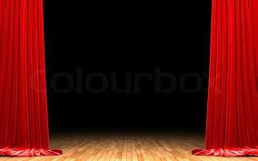 Deep Red Velvet Curtains Red Velvet Curtain Opening Scene Stock Photo Colourbox