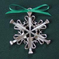 horseshoe ornaments equicraft snowflake ornaments