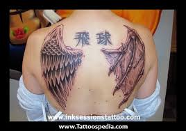 and evil wing tattoos