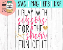 hair stylist svg eps png dxf cutting files for silhouette