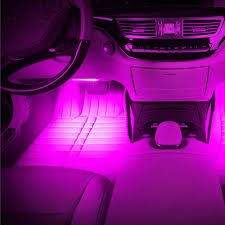 pink car interior 4 x 12led car suv charge interior atmosphere decorative floor