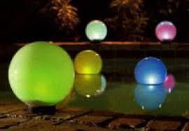 Floating Solar Pond Lights - pool light globes koi pond lights chameleon lighting floating