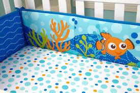 amazon com disney nemo crib traditional padded bumper baby