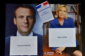 campaign flyers of french presidential candidates emmanuel macron