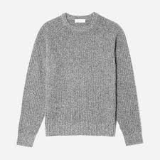 wool sweater s ribbed wool crew everlane