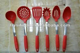 ustensile de cuisine en silicone 6 pcs innovation silicone ustensile de cuisine approuvé de fda