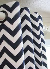 Navy Blue Chevron Curtains 12 Best Curtains Images On Pinterest Blinds Curtains And Custom