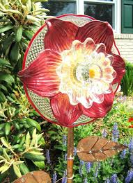 glass garden art projects glass garden flower yard art flower