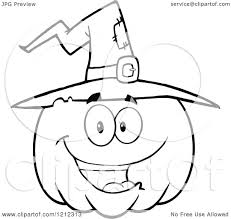 happy halloween pumpkin clipart cartoon of an outlined happy smiling halloween pumpkin wearing a