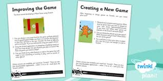 design home game tasks computing scratch developing games year 5 unit home learning