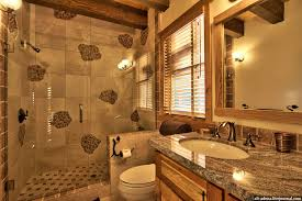Rustic Bathrooms Designs - mountain style home decorated in rustic style