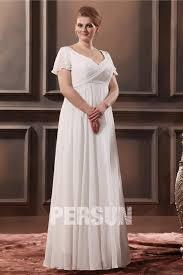 robe mari e grande taille robe de mariée grande taille simple vintage empire encolure en v