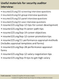 top 8 security auditor resume samples